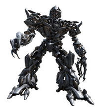 The alien Megatron, a Decepticon, in