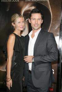 Jeffrey Donovan and Guest at the California premiere of
