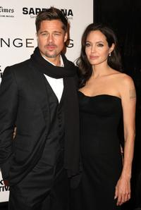 Brad Pitt and Angelina Jolie at the New York premiere of