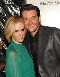 Sarah Paulson and Jason Butler Harner at the New York premiere of