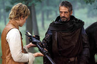 Brom (Jeremy Irons) gives one of his most cherished possessions -- his sword -- to Eragon (Ed Speleers) in
