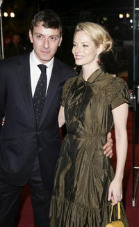 Actors Enzo Cilenti and Sienna Guillory at the London premiere of