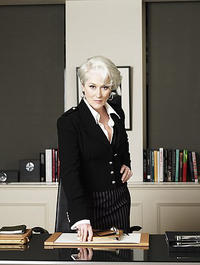 Meryl Streep stars as Miranda Priestly, the editor of Runway magazine in
