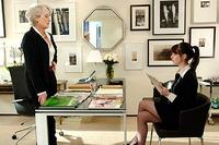 Fashion magazine editor Miranda Priestly (Meryl Streep) is a demanding boss, as Andy Sachs (Anne Hathaway) discovers in