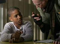 Rodney Henry Jr. and director Tony Lover on the set of