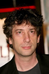 Writer Neil Gaiman at the L.A. premiere of