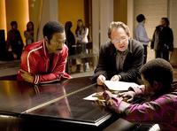 Eddie Murphy, Bill Condon and Keith Robinson on set of