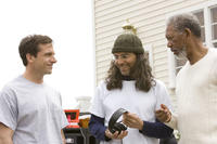 Steve Carell, Morgan Freeman and Tom Shadyac in