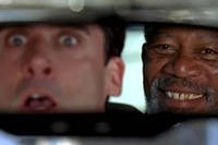 Steve Carell and Morgan Freeman in