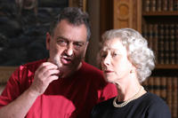Director Stephen Frears and Helen Mirren on the set of