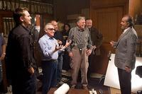 Director Martin Scorsese and cast members on the set of