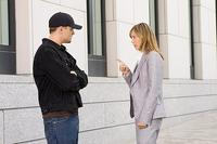 Billy Costigan (Leonardo DiCaprio) speaks with police shrink Madolyn (Vera Farmiga) in
