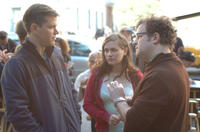 Matt Damon, Anna Paquin and writer/director Kenneth Lonergan on the set of