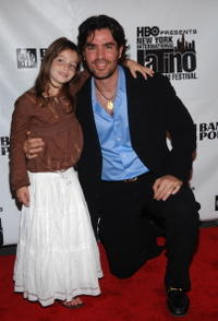 Actors Sophie Nyweide and Eduardo Verastegui at the pre-screening party of