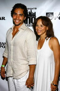 Actors Ramon Rodriquez and Rosie Perez at the after party of the screening of