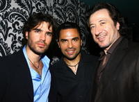 Actors Eduardo Verastegui, Manny Perez and Federico Castelluccio at the after party of the screening of
