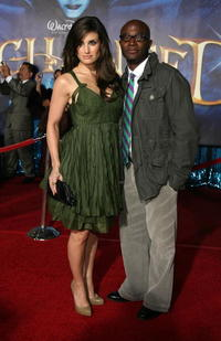 Actress Idina Menzel and Taye Diggs at the L.A. premiere of