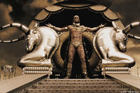 Xerxes (Rodrigo Santoro) believes he is a god in