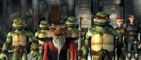 The Turtles, Splinter, April and Casey in