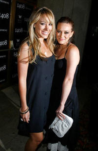 Actresses sisters Hayley Duff and Hilary Duff at the California premiere of