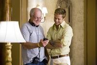 Producer Jerry Weintraub and Brad Pitt on the set of