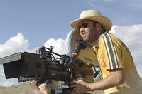 Director Dave Meyers on the set of