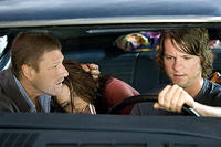 Sean Bean, Sophia Bush and Zachary Knighton in