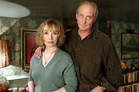 Lindsay Duncan and Charles Dance as Alice's parents in