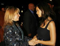 Thandie Newton and Paramount head Stacey Snider at the Los Angeles premiere of