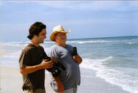 Director Michael Tully and cinematographer Shawn Lewallen behind the scenes of