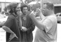 Director Michael Tully, Damian Lahey and cinematographer Shawn Lewallen on the set of