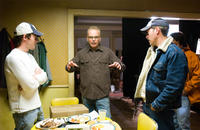 Director Michael Polish, Billy Bob Thornton and writer Mark Polish on the set of