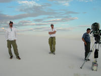 Director Michael Polish, writer Mark Polish and the director of photography M. David Mullen on the set of