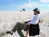 Director Michael Polish on the set of