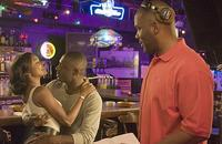 Gabrielle Union, Idris Elba and writer/director Tyler Perry on the set of
