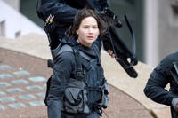 Jennifer Lawrence As Katniss Everdeen in 'The Hunger Games: Mockingjay -- Part 1'