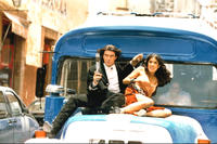 Once Upon a Time in Mexico Johnny Depp  Antonio Banderas and Salma Hayek