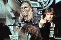 Chewbacca and Han Solo in 'Star Wars'