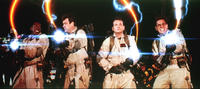 Peter Venkman, Ray Stantz, Egon Spengler and Winston Zeddmore in 'Ghostbusters'
