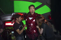 On Set with The Avengers