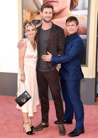 Elsa Pataky, Chris Hemsworth and Luke Hemsworth