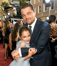 Julia Butters and Leonardo DiCaprio