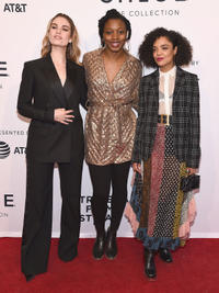 Lily James, Nia DaCosta and Tessa Thompson