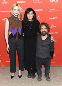 Elle Fanning, Reed Morano and Peter Dinklage