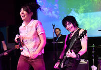 Kathleen Hanna and Joan Jett