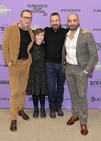 Paul Bettany, Sophia Lillis, Alan Ball and Peter Macdissi