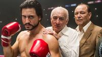Edgar Ramirez and Robert De Niro in Hands of Stone