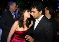 Zooey Deschanel and M. Night Shyamalan