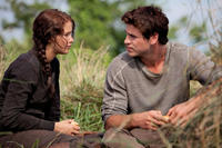Katniss Everdeen (Jennifer Lawrence) and Gale Hawthorne (Liam Hemsworth).