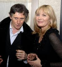 Gabriel Byrne and Kim Cattrall at the after party for the screening of